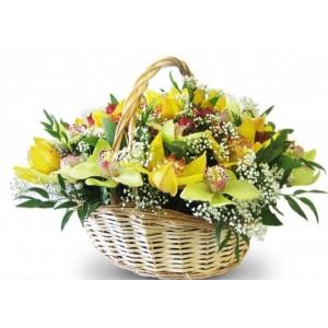 Корзина с орхидеями...<br>