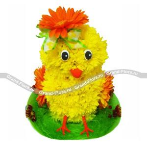 ЦыпленокОформление заказа на доставку композиции в виде игрушки на сайте Grand-flora.ruвозможно за 3 дня до даты доставки. Если Вам необходима срочная доставка - уточнить информацию Вы можете у менеджера по телефону 8 988 744 46 44 или 8 800 333 01 95.<br>Вы...<br>