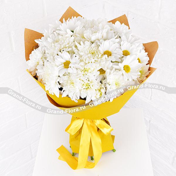 Нежное признание - букет из кустовых хризантем от Grand-Flora.ru