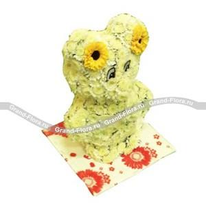 МишкаОформление заказа на доставку композиции в виде игрушки на сайте Grand-flora.ru возможно за 3 дня до даты доставки. Если Вам необходима срочная доставка - уточнить информацию Вы можете у менеджера по телефону 8 988 744 46 44 или 8 800 333 01 95.<br>Ко...<br>