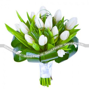 Нежность ангелаБелоснежные бутоны тюльпанов, конечно же в первую очередь наполняют наши мысли чистотой. Аромат - радостью и кажется, будто мы сияем изнутри. К тому же, белые тюльпаны выглядят очень торжественно, поэтому способны украсить собой любой праздник...<br>
