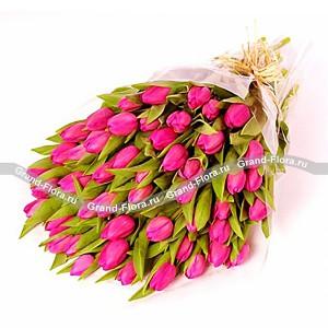 Марсель - букет из розовых тюльпанов