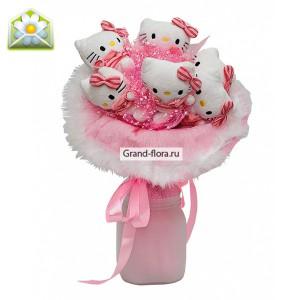 Букет кошечки Китти Розовый Гранд Флора 2800.000