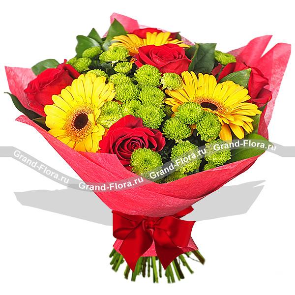Цветы Гранд Флора GF-n-g019 барсетка giorgio ferretti business 3276 019 rosolare gf