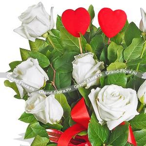 7 белых роз - Светлое чувство...<br>
