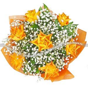 Розы оранжевого цвета - Млечный путь...<br>