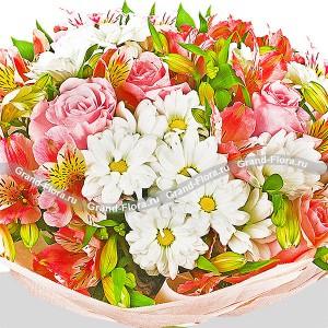 Микс из хризантем и роз - Богемская рапсодия...<br>