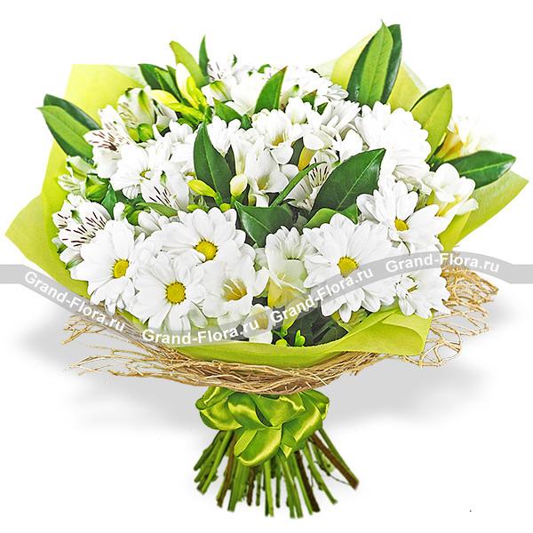 Летнее поле - букет из хризантемы и альстромерии