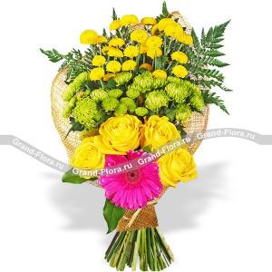 Жёлтые розы (Мужской букет) - Яркий акцент...<br>