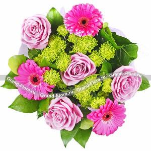 Букет из фиолетовых роз - Прекрасной незнакомке...<br>