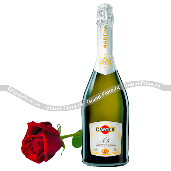 Asti Martini с розой