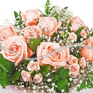 Кустовые розовые розы - Мой Идеал...<br>