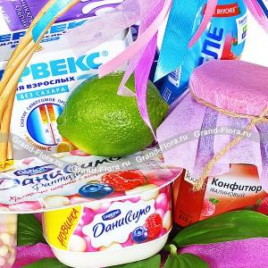 Привет - иммунитет - корзина из фруктов подарочная
