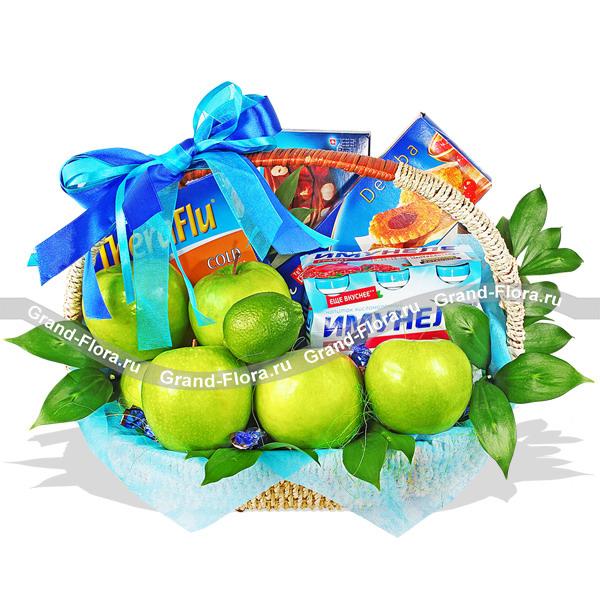 С заботой и нежностью - подарочная корзина из фруктов