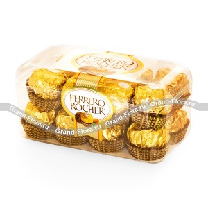 Конфеты Ferrero RocherВнимание! Данный вид товара можнозаказать только как дополнение к букету....<br>