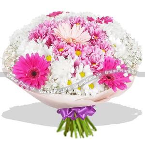 Сказочные сны - букет из гербер и хризантем...<br>