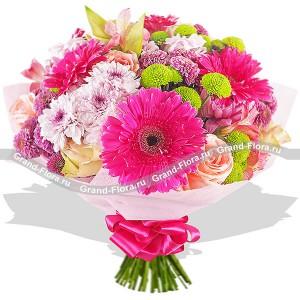 Букет из розовых цветов - Лучшие воспоминания...<br>
