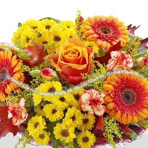 Микс цветов + оранжевая роза - Вальдивия...<br>