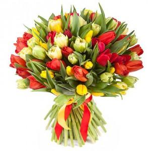 Разноцветные тюльпаны...<br>
