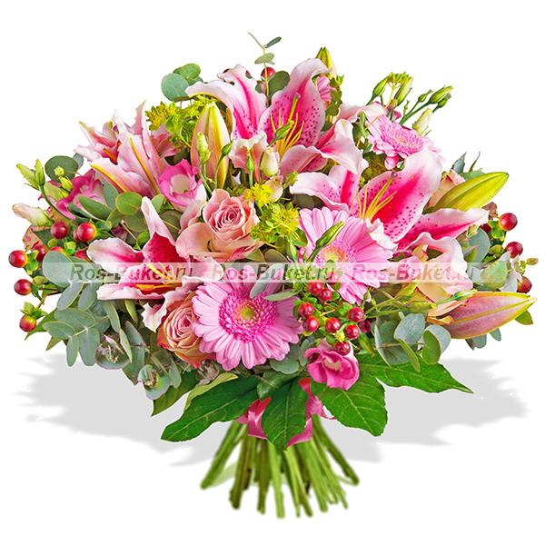 Самый нежный - букет из лилий и роз