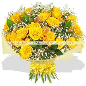 Вспышка на солнце - букет из кустовых роз