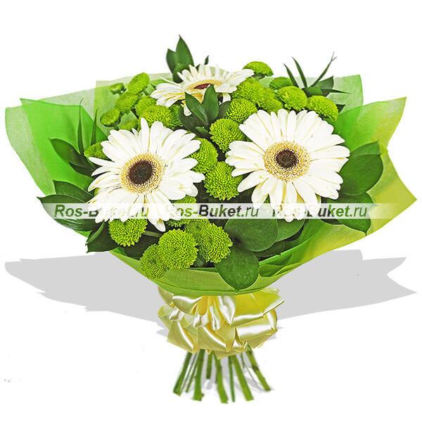 Мелодия - букет из гербер и хризантем