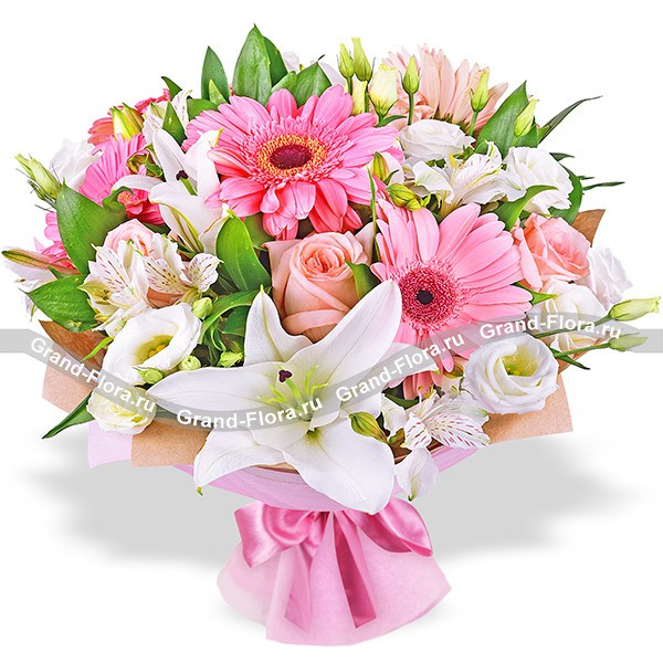 Buy a bouquet of pink roses - Virtual love | Send flowers to all ...