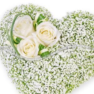 Сердце из белых роз - Для Ангела...<br>