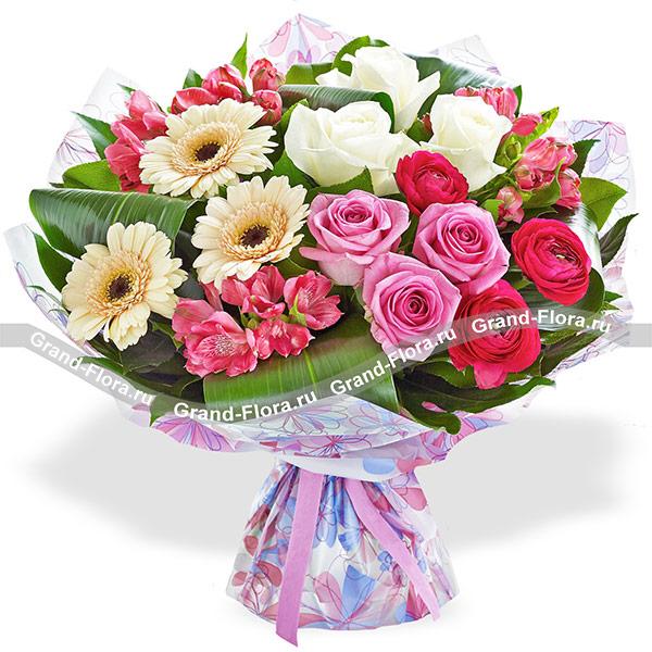 Розы Гранд Флора Красивый букет из роз - Страна любви фото