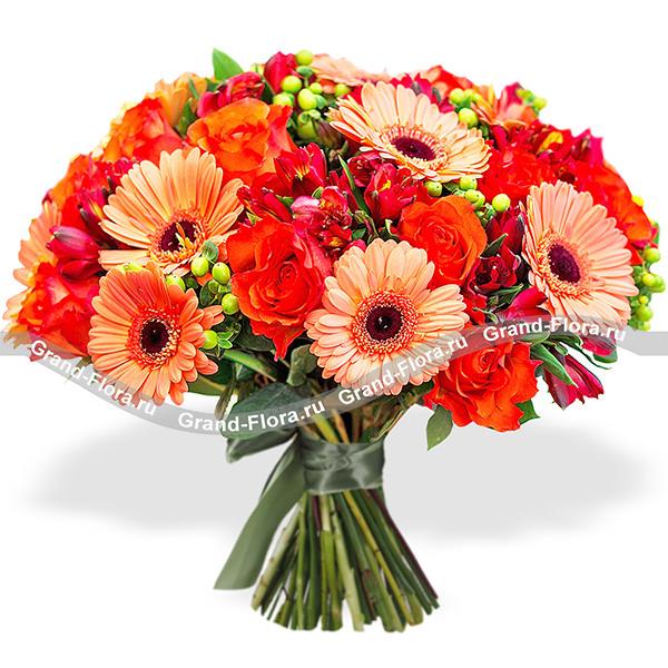 Оранжевый микс - Букет счастья от Grand-Flora.ru
