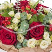 Bouquet of red and cream roses - Flower Paradise