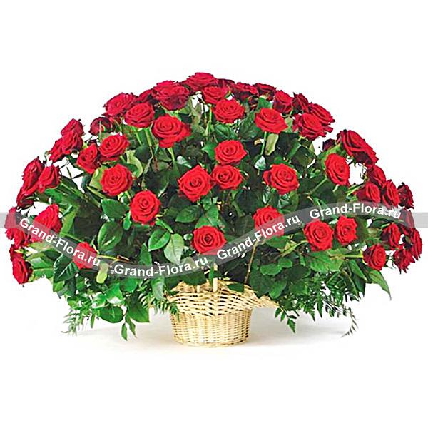 """Букет из 101 розы """"Примадонна"""""""