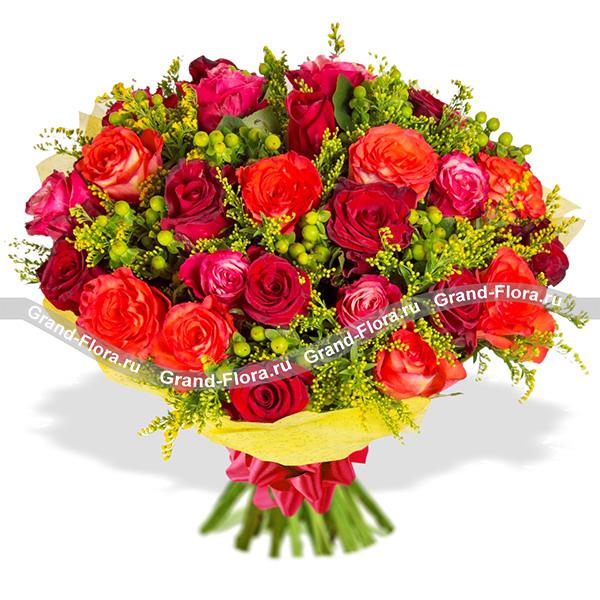 Пряный десерт (25 роз) - букет из роз от Grand-Flora.ru