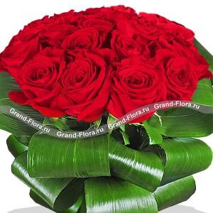 Анжелика (25 роз)Букет Самой родной маме – это страстные алые розы, оформленные таким образом, что напоминают даму Высшего света, в платье с кринолинами и высокой прической.rnБлагородство и изящество роз не требует много слов, зато сам букет весьма красноречив. Идеа...<br>