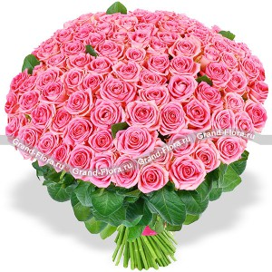 101 розовая роза (80 см) - букет из роз...<br>
