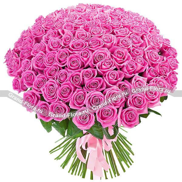 """Букет из 101 розы """"Аква"""" (50 см)"""