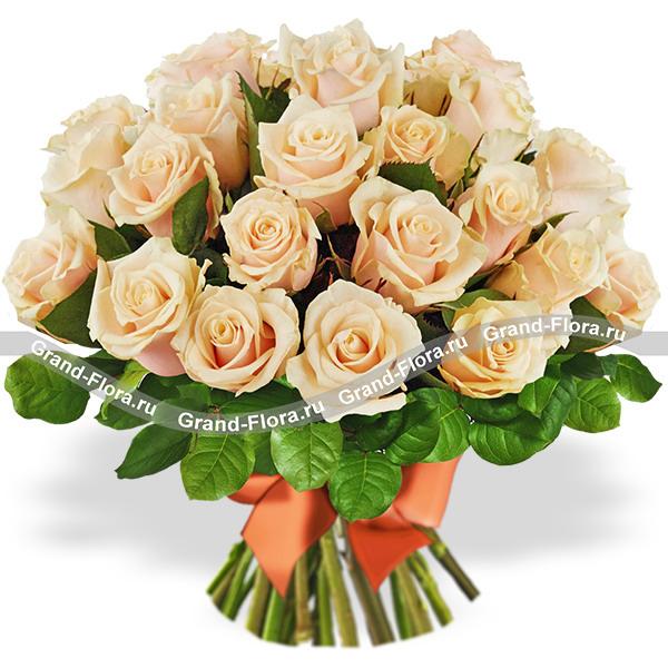 Букет роз кремового цвета от Grand-Flora.ru