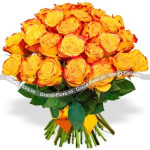 Букет оранжевых роз...<br>