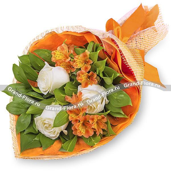 Букет из роз и альстромерий - Тропикана