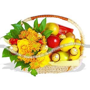 Желаю Вам - корзина из фруктов подарочная
