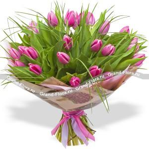 Магия чувств - букет из тюльпанов