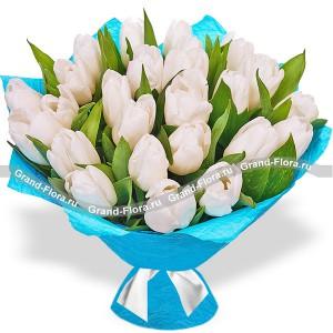 Сердце океана - букет из тюльпанов