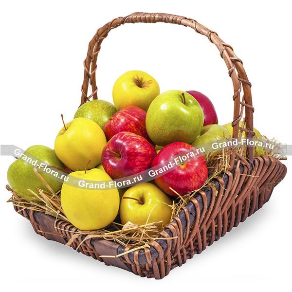 Яблочное настроение - корзина с фруктами