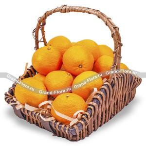 Цитрусовый заряд - корзина из фруктов подарочная