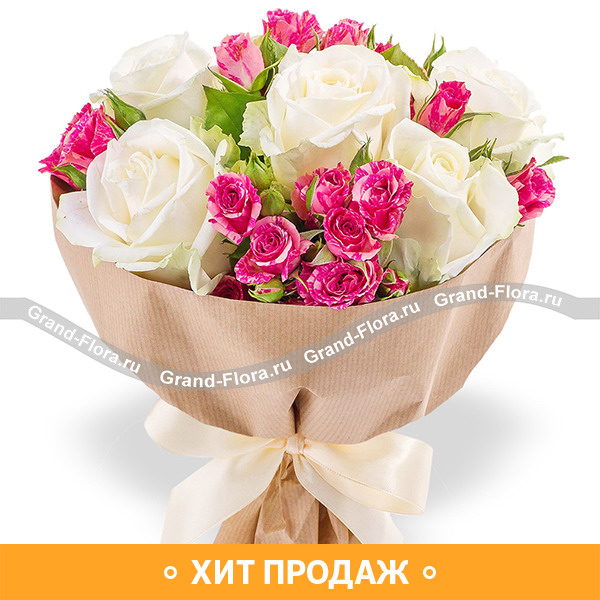 Нежный день - букет из роз