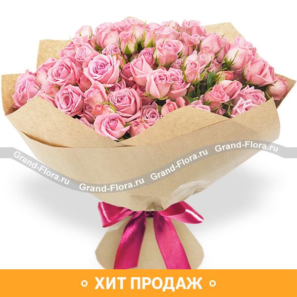 Сокровенная мечта - букет из кустовой розы