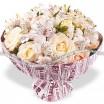 Кремовые розы с альстромериями - Вдвойне прекрасна