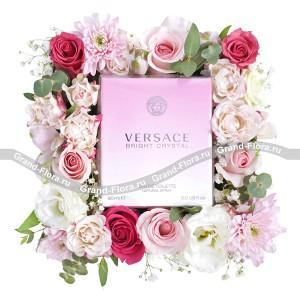 Кокетка - коробка с цветами и парфюмом