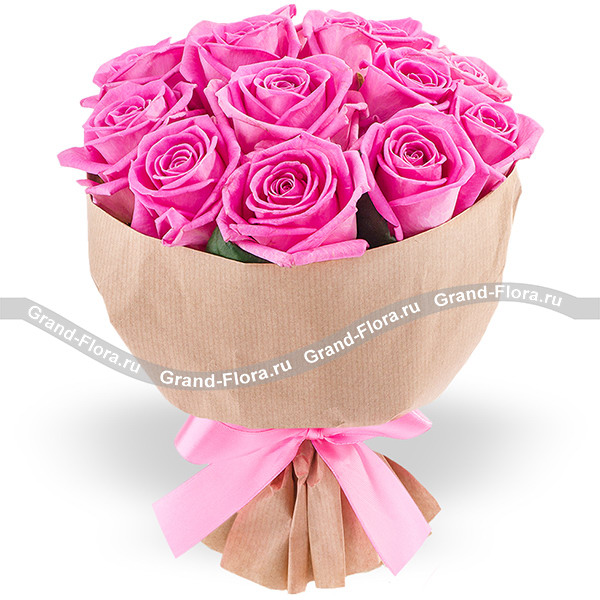 Барби - букет из розовых роз