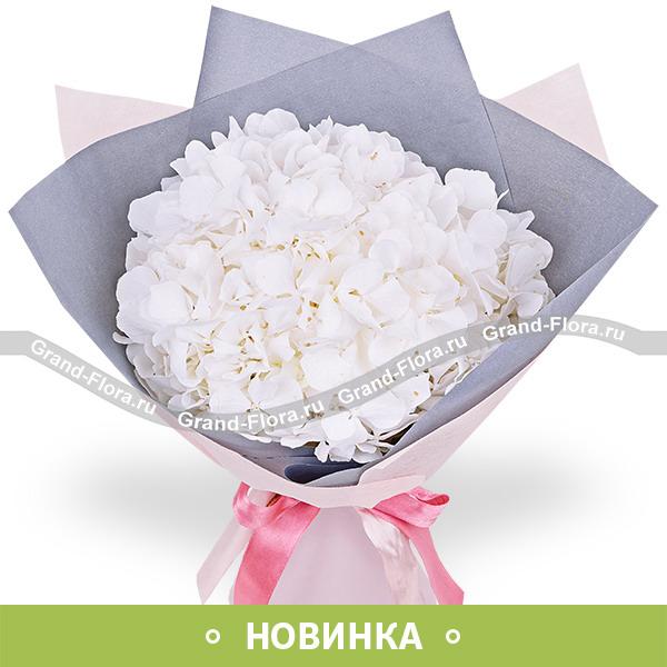 Новинки Гранд Флора Раффаэлло - букет из белой гортензии фото
